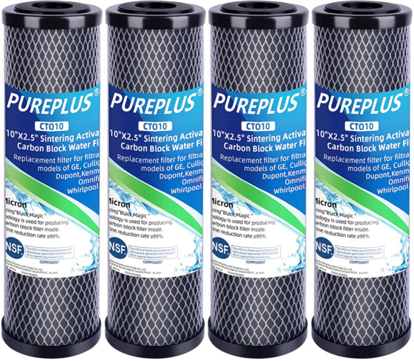 1 Micron 2.5quot; x 10quot; Whole House CTO Carbon Water Filter Cartridge Replacement