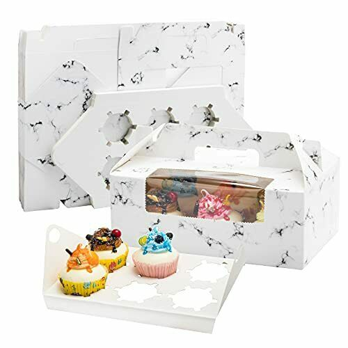 """30Packs Cupcake Boxes 6 CountBakery Boxes with Window9x6x3.5"""" inches Cupcakes..."""