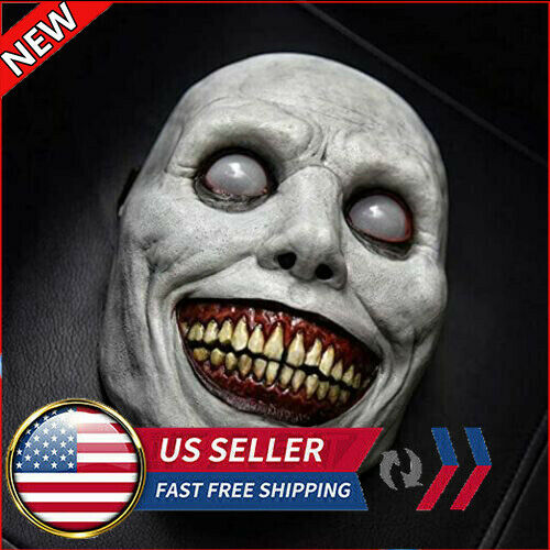 Creepy Halloween Face Mask Scary Smiling Demon Horror Cosplay Costume Party Prop $12.99