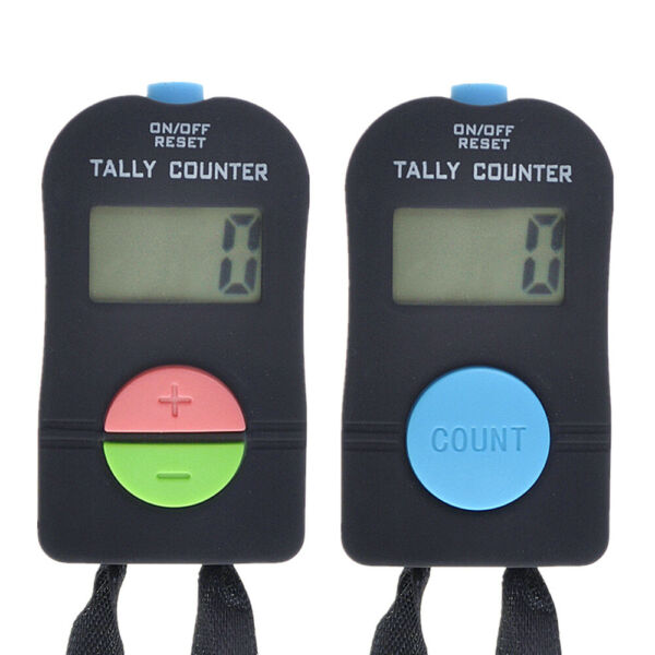 2 PCS Digital Hand Tally Counter With Lanyard Handheld Mechanical Click TOPTIE