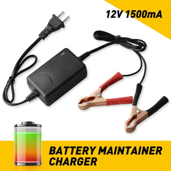 Portable Black Car Battery Pack 12V Auto Battery Charger 1500mA 50 60Hz Car Part $9.99