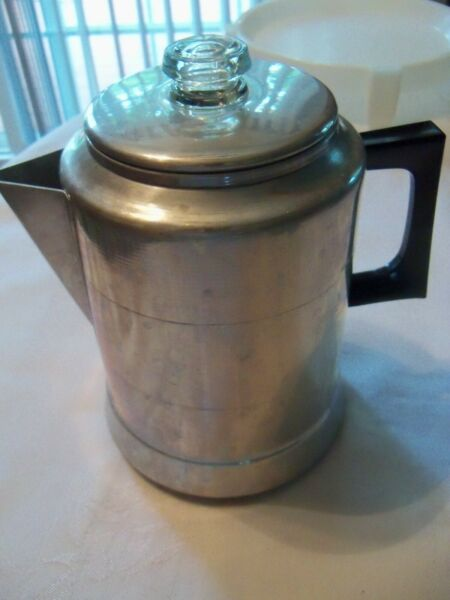 Vintage Comet Percolator Coffee Pot 9 Cup Aluminum Camping or Kitchen