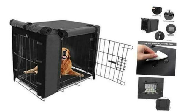 Durable Dog Crate Cover Double Door for Large pet 36x23x25 Inch Pack of 1 $41.62