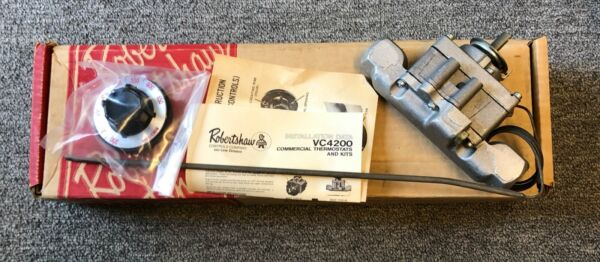 NOS NEW OEM ROBERTSHAW 4200 505 1 2quot; X 1 2quot; Commercial Gas Thermostat FDTO 1 $110.00