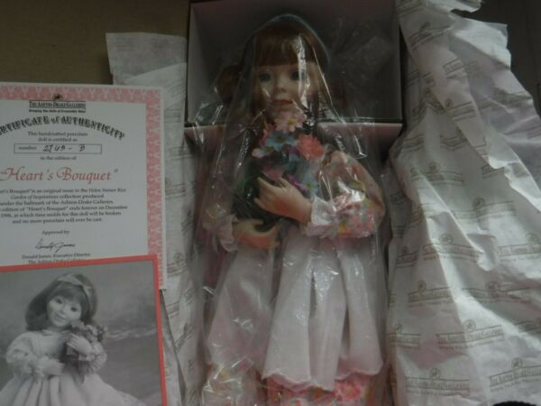Part of the Ashton Drake Galleries Hearts Bouquet. Porcelin doll. By Helen Stei