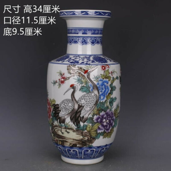 China antique Qianlong Qing Blue and white Flowers and birds wooden bottles