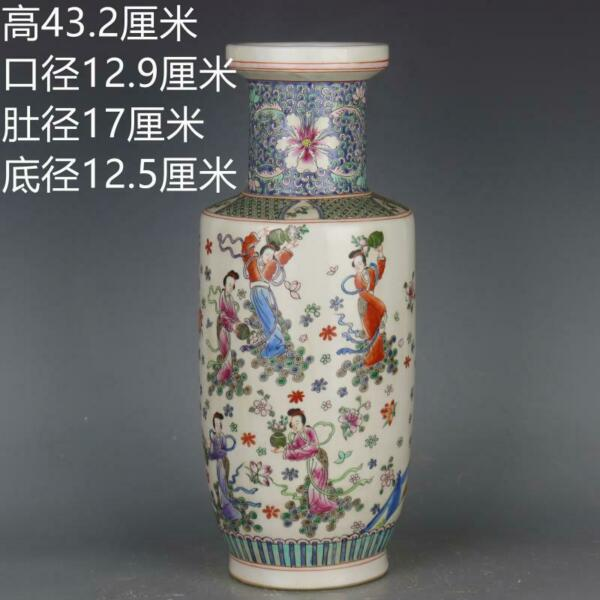 China antique Kangxi in Qing Dynasty character Scattered flowers wooden bottles