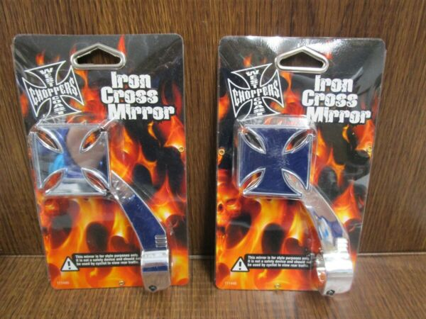 BELL Bicycle Mirror Lot of 2 Iron Cross West Coast Choppers CHROME NEW SEALED $19.99