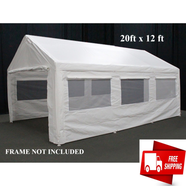 12 x 20 ft Canopy Garage Side Wall Kit Privacy Car Big Tent Parking Carport $199.97