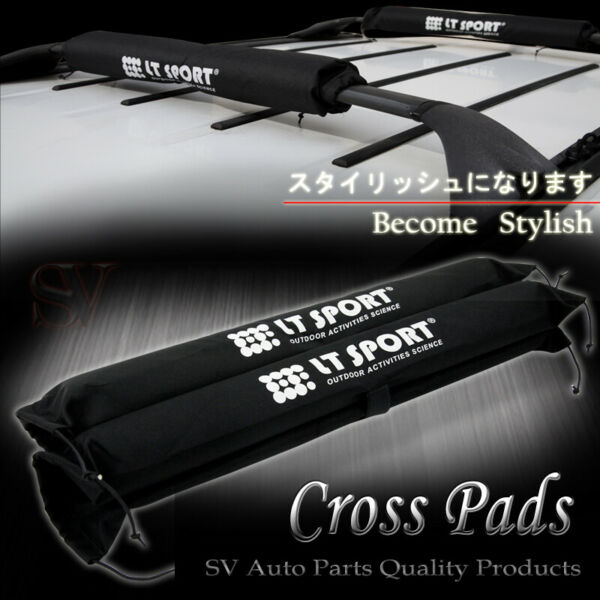 Rooftop Rack Protector Cross Bars Round Pad Cargo Carrier Soft Wrap For BMW $19.99