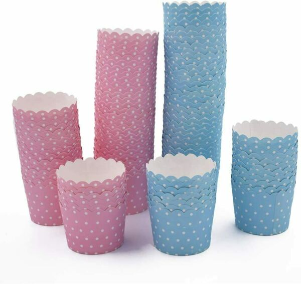 100 Pcs Paper Cake Cases Baking Cups Cupcake Cases Muffin Cupcake Wrappers
