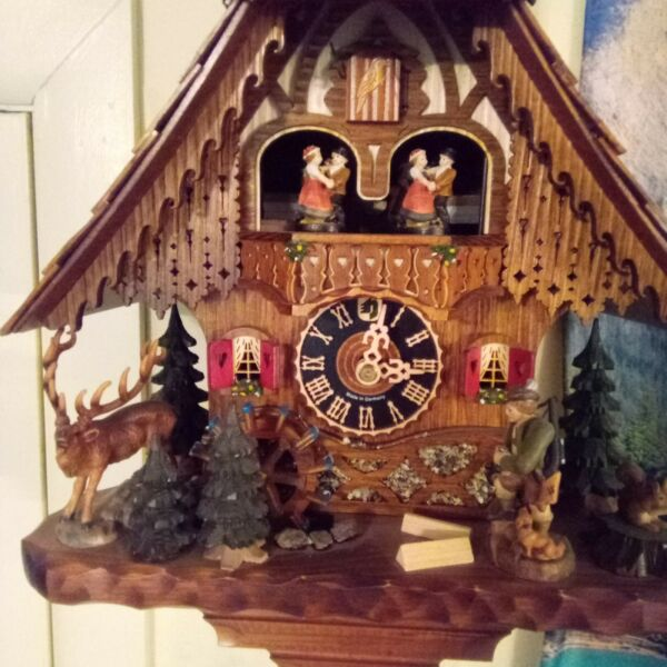 used Chalet Style Black Forest Cuckoo Clock By Hones