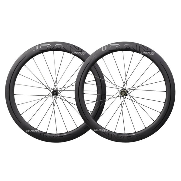 ICAN AERO 55 Disc Carbon Clincher Road Bike Wheelset Center Lock in the USA $605.00