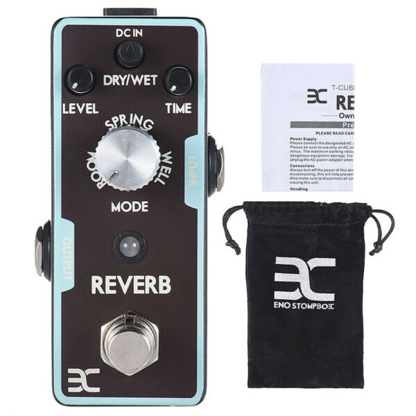 ENO Reverb Mini Guitar Effect Pedal True Bypass Monaural 9V for Electric Parts $36.99