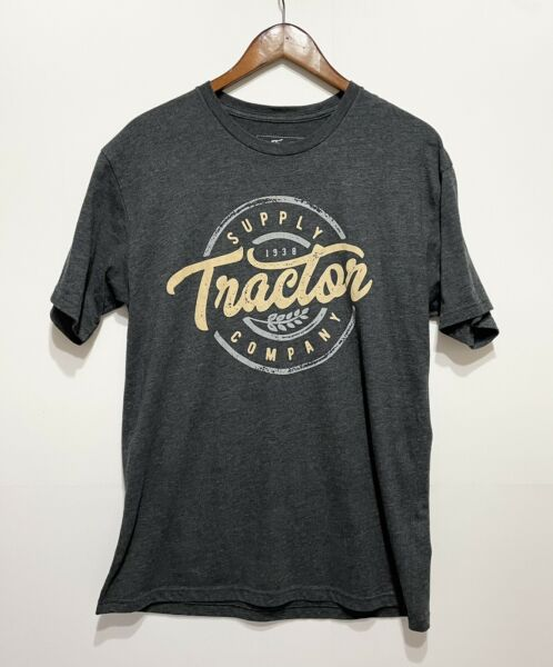 Tractor Supply Company Heather Grey Graphic Print T Shirt Men#x27;s Large $9.95