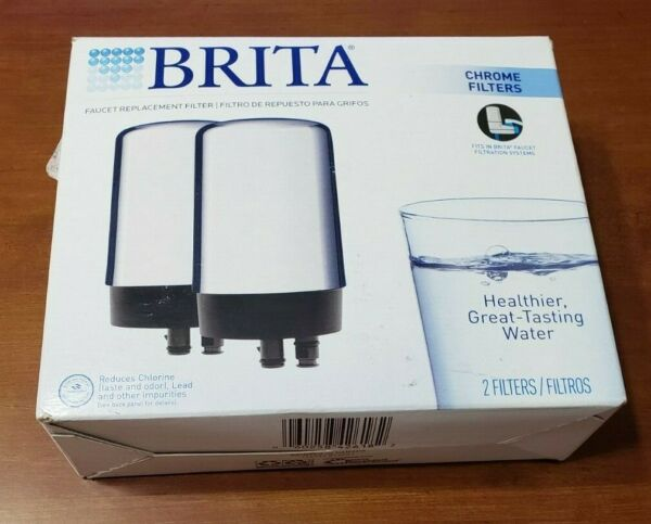 Brita Tap Water Filter Filtration System Replacement 2ct Chrome