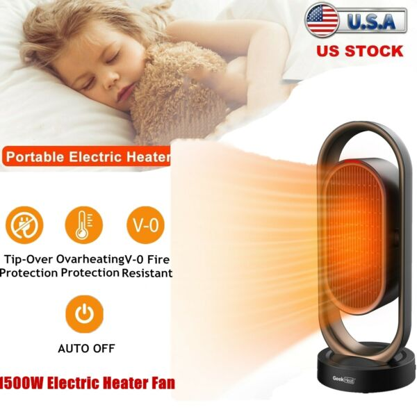 1500W Electric Heater Fan Home Office Space Heating Portable Indoor Fan Timer US $72.95