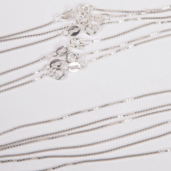 80 pieces Sterling Silver 925 BOX 015 CHAIN Necklaces Lot 20x16