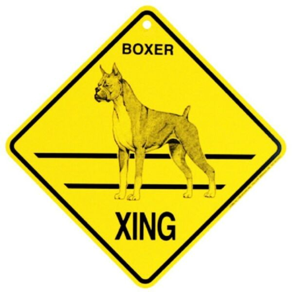 Boxer Dog Crossing Xing Sign New $8.99