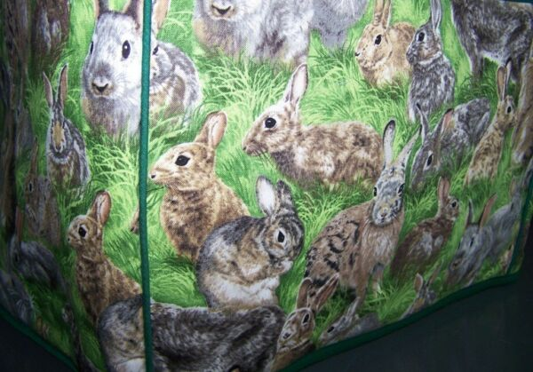 Rabbits Bunnies Bandits Quilted Fabric 2 Slice or 4 Slice Toaster Cover NEW
