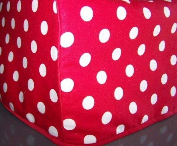 Red Polka Dots Quilted Fabric 2 Slice or 4 Slice Toaster Cover NEW