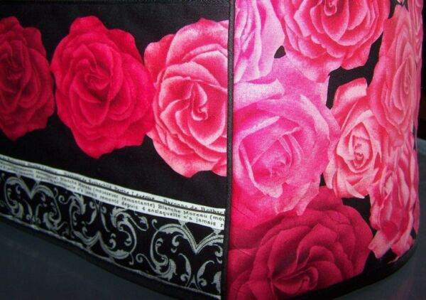 Lovely Red Roses Quilted Fabric 2 Slice or 4 Slice Toaster Cover NEW