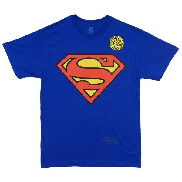 Superman Logo Glows In The Dark DC Comics Licensed Adult T Shirt
