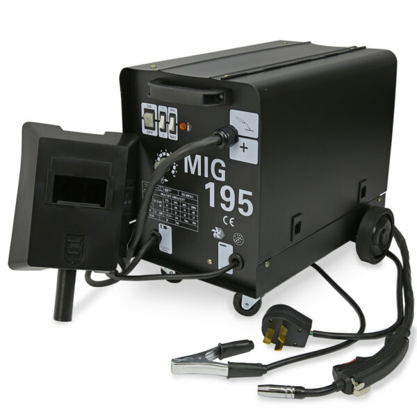195 AMP DUAL MIG-195 230V Flux Core Auto Wire Welding Machine Gas No Gas Welder