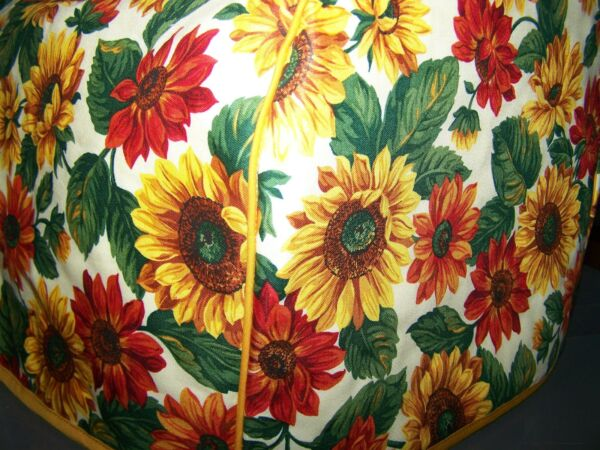 Fall Amber Sunflowers Quilted Fabric 2 Slice or 4 Slice Toaster Cover NEW