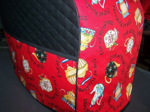 Cup Kindness Quilted Fabric Keurig Platinum Coffee Brewer Tea Maker Cover NEW