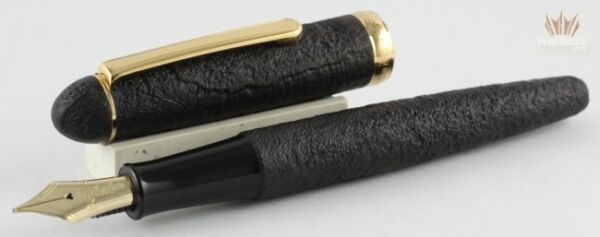 PLATINUM 3776 BRIAR SANDBLASTED WOOD WITH GOLD PLATED TRIM FOUNTAIN PEN GORGEOUS