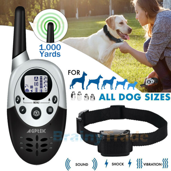 3000 FT Dog Shock Training Collar Remote Waterproof Pet Trainer for L M S Dogs $34.99