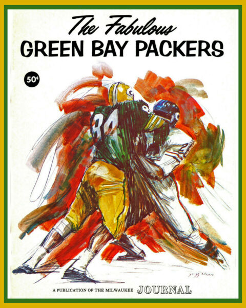 Green Packers Wall Art Poster from 1965 Championship Publication 8x10 Photo