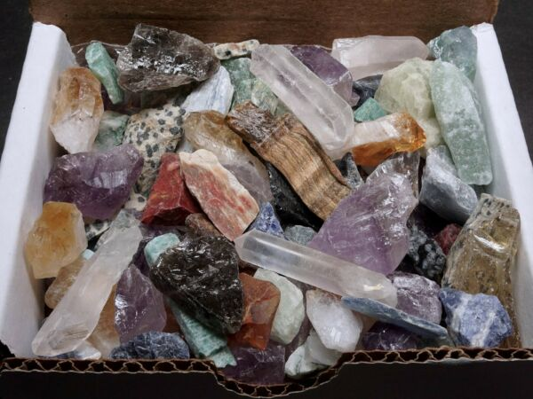 Miniatures Mineral Collection 1 2 lb Mix Natural Gems Crystals Specimens $15.95