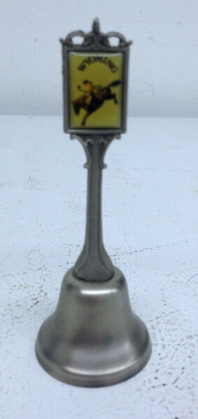 Vintage 4quot; Collectible Pewter Bell Mount Wyoming $3.95