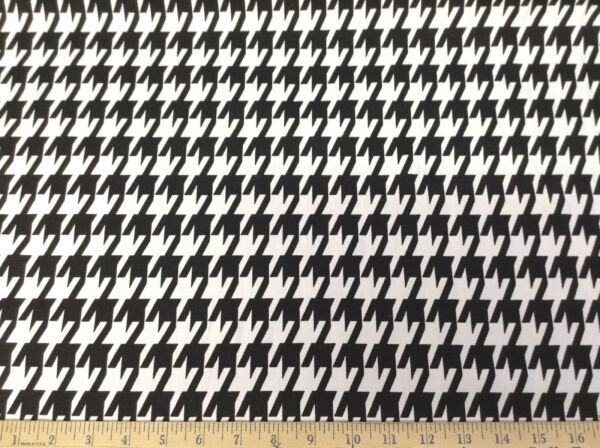 Discount Fabric Premier Prints LARGE Houndstooth Black and White PR02