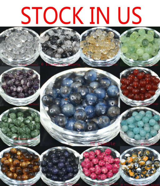 Wholesale Lots Natural Stone Gemstone Round Spacer Loose Beads 46810MM