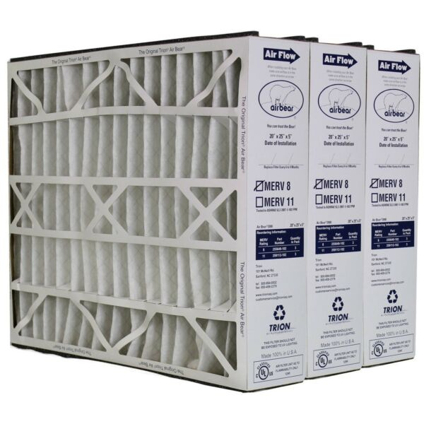 Air Bear and Trion Furnace Air Filter 229990-102   3-Pack   Genuine MERV 8