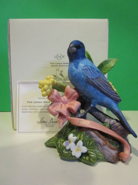 LENOX 2009 Annual INDIGO BUNTING Bird sculpture NEW in BOX with COA