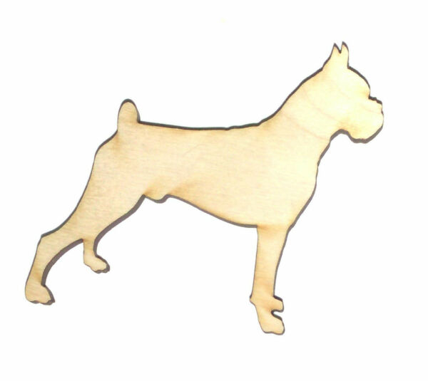 Boxer Dog Male Unfinished Wood Shape Cut Out BDM8733 Crafts Lindahl Woodcrafts $1.10
