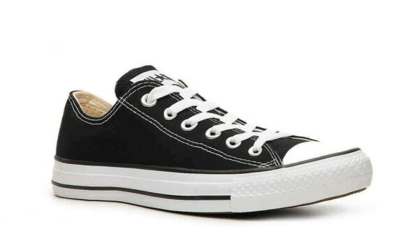 CONVERSE Mens/Womens Chuck Taylor All Star Black Canvas Athletic Sneakers M9166
