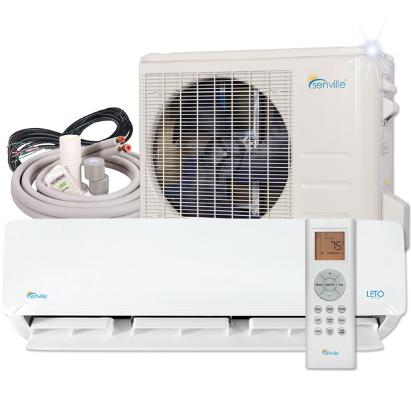 24000 BTU Ductless AC Mini Split Air Conditioner and Heat Pump 17 SEER 2 TON $1099.99