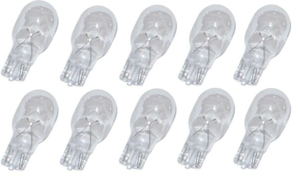 10pk 4 WATT 12v LOW VOLTAGE T5 WEDGE BULBS for ** MALIBU INTERMATIC **