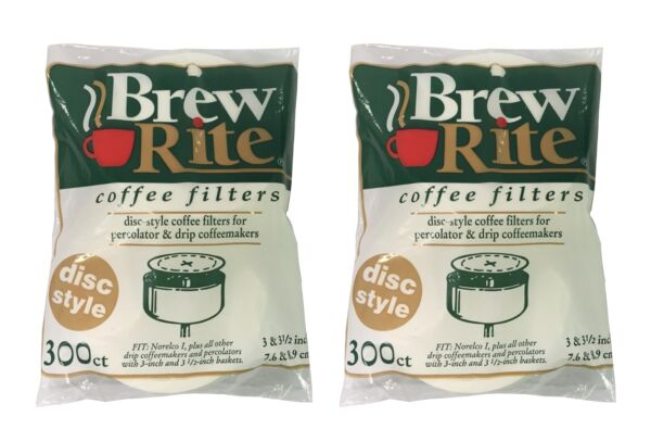 Round Coffee Filters for Percolators 3 to 3.5quot; Paper 600ct NEW