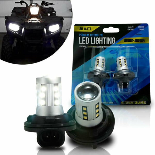 2 LED OEM 1997 98 99 for Polaris Sportsman 335 400L 500 Low Beam Headlight Bulbs
