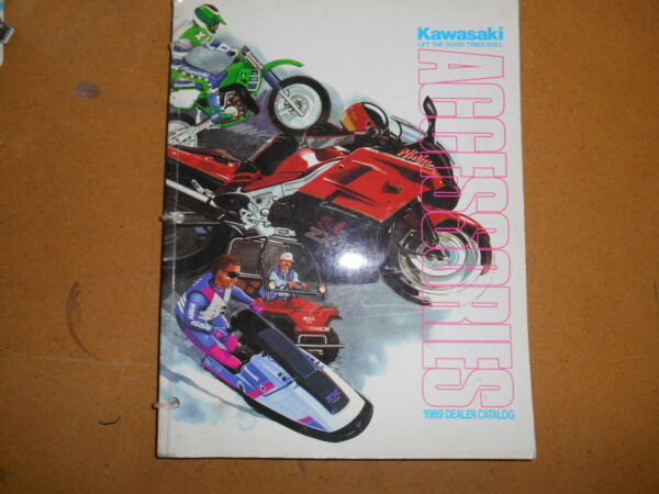 1989 Kawasaki Accessories Dealer Catalog and Price Guide K99989 ACC $59.99
