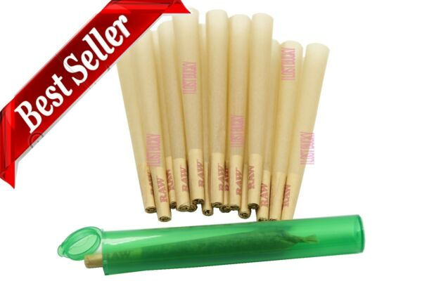 RAW King Size Authentic Pre Rolled Cones 100 w Filter 100 Pack