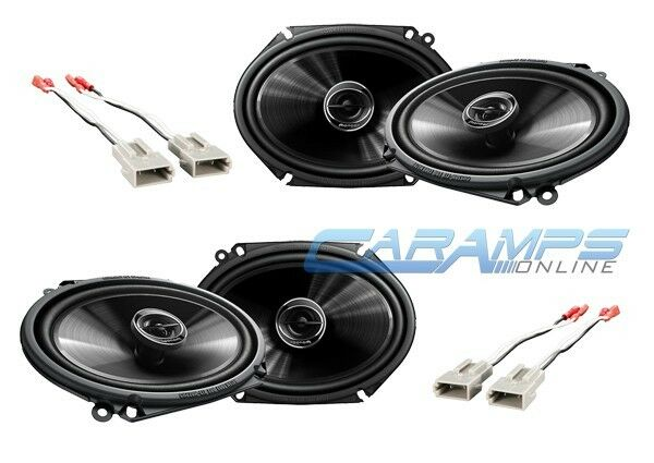 NEW PIONEER CAR AND TRUCK STEREO FRONT & REAR SPEAKERS W/ SPEAKER HARNESS