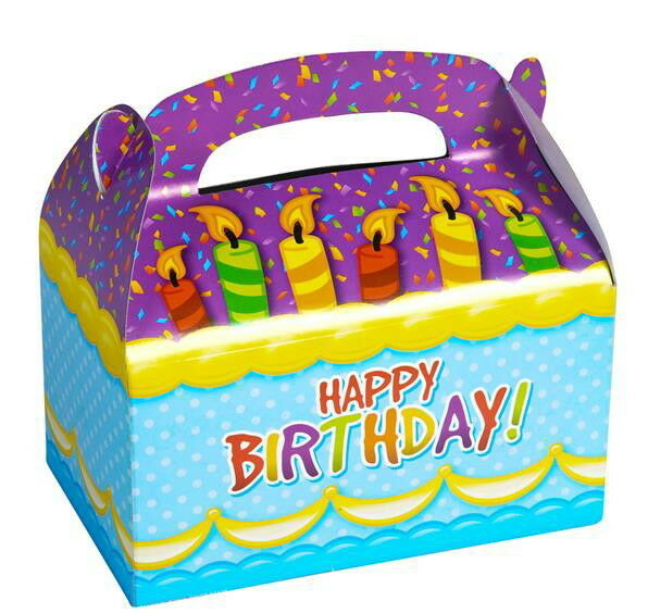 10 HAPPY BIRTHDAY PARTY TREAT BOXES FAVORS GOODY BAGS CARNIVAL PRIZE GIFT BASKET