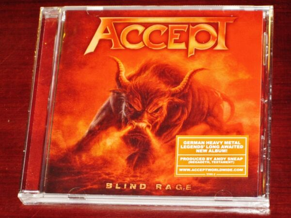 Accept: Blind Rage CD 2014 Nuclear Blast Records USA NB 3195 2 NEW
